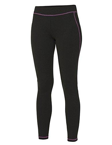 Pantalon sport moulant Femme Function Yoga Pant Jet Black/Hot Pink