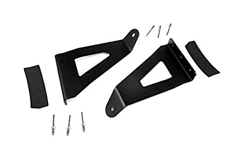 Rough Country - 70518 - 54-inch Curved LED Light Bar Upper Windshield Mounting Brackets (Ford F150) by Rough Country