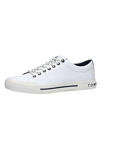 Tommy Hilfiger H2285arlow 2d, Sneaker Bas du Cou Homme Blanc