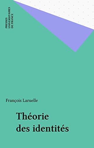 Download Online Théorie des identités pdf epub