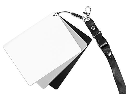 Ares Foto® Tarjeta Gris Balance Blancos Manual medición