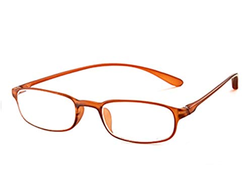 Blaues Licht, das Gläser blockiert, mit Blendschutz, transparente Linse, Computer-Lesebrille, Anti-Augenstress/Anti Scratch/Anti Smudgy, Frauen/Männer (Farbe : Orange, größe : +2.5X)