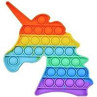 PATPAT® Pop It Fidget Toys Unicorn Design Fidget Sensory Toy,Autism Special Needs Silicone Stress Relief Toy,Great…