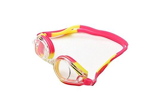 Da.Wa Swimming Goggles Anti Fog Wasserdichte UV Schutz Silikon Schwimmbrille für Erwachsene Damen und Herren,Rose