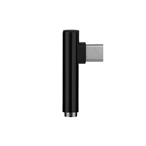 Jintime 2 In 1 Typ-C zu 3.5 mm Kopf Aux Audio USB C Kabel Portable USB C Adapter/Kopfhörer Buchse für LG G5/G6/V20/Google Nexus 6P 5X (Black) 6p-audio-kabel