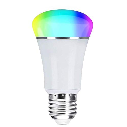 Smart WiFi Bulb,Weton Multicolored Smart LED Light Bulbs Work with Amazon Alexa Google Home, No Hub Required,Remote Control via Free App for iphone Android, Dimmable Night Light Sunrise Light