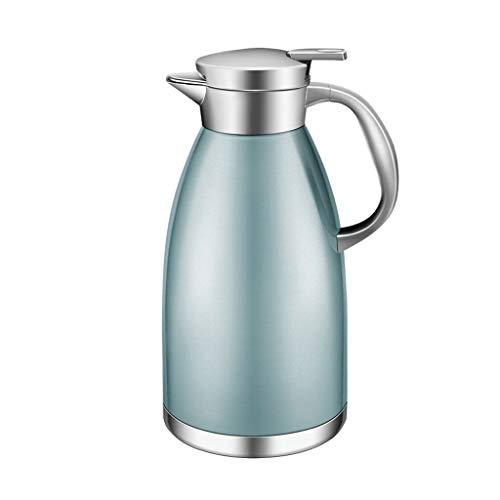 FYCZ Vakuumkrug-Isolierungs-Topf, rostfreier Stahl 1.8L Kaffee-thermischer Karaffen-doppelter Wand-Saft-Milch-Tee-Topf (Farbe : Blau) - Kaffee-tee-thermische Karaffe