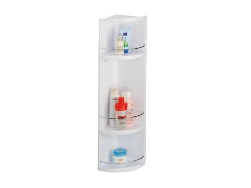 Corner Storage Unit (Croydex Compact Badezimmer-Eckregal 3-stöckig, aus Kunststoff, mit Abgießlöchern, 70x16x16cm, Weiß)