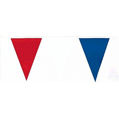 Amscan International Wimpelkette mehrfarbige 36 m, Rot / Weiß / Blau (Banner Weiße Blaue Und Rote)
