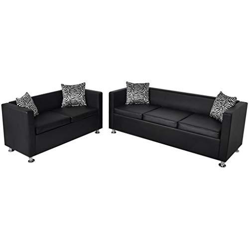 Tidyard Conjunto de sofás de 2 y 3 plazas de Cuero Artificial...