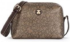 Bolso Bandolera Tous mediana Kaos Mini de Lona en color marrón con bolso verano original Tous de regalo