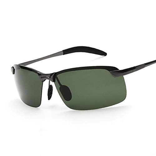 YIWU Brillen & Zubehör Sonnenbrillen Herren Polarized Light Driving Sonnenbrillen Brillen (Color : Dark Green-1) -