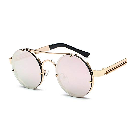 Sonnenbrillen Refreshing Circle Sunglasses Delicate Fashion Lady'S Sunglasses Spring Leg Design Glasses Driving Polarizing Sunglasses, A