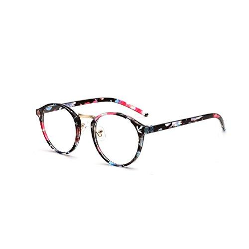 Forepin Nerdbrille Retro Rund Unisex reg; Dekogläser Klassisches Mode Damen/Herren Brillen - Blaue...