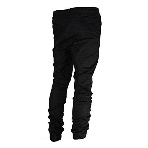 Pantaloni da Jogging Uomo - Slim Fit Sportivi Tacksuit Confortevole Vita Elastica Jogger Pantalone Casual Allenamento Fitness Pantaloni Nero