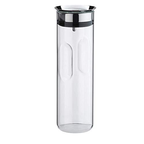 WMF Motion Wasserkaraffe, 1,25l, Höhe 29 cm, Glas-Karaffe, Silikondeckel, CloseUp-Verschluss, Griffmulde, spülmaschinengeeignet