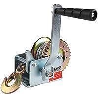 ATLAS POWER MACHINES Cabrestante Manual de 600 LB/ 1200 LB con Cable de Acero Capacidad de tracción de 600 LB (1200 LB Capacity)