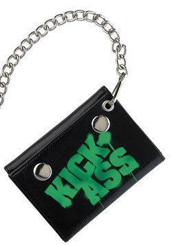 KickAss Mezco Toyz Chain Wallet Green Logo by Kick Ass (Chain Logo Wallet)