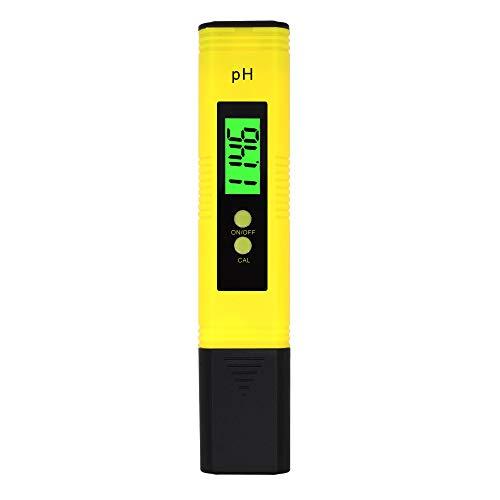 Digital pH Meter hohen Genauigkeit pH-Tester von youxiu, 0,01Auflösung Große LCD-Stift Wasserqualität Tester mit Auto Kalibrierung Funktion für Wasser Aquarium Pool Whirlpool Hydrokultur Wein gelb