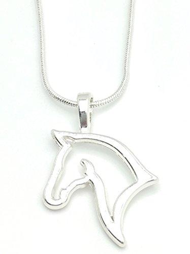 Diseño de la cabeza de Caballo Collar colgante Equestrian - silueta de Reino Unido