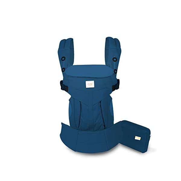SONARIN Premium Convertible Baby Carrier with Storage Bag,Sunscreen Hood,Ergonomic,for Newborn to Toddler(0-48 Months),Head Support,Maximum Load 20kg,Front Facing Baby Carrier(Blue) SONARIN Applicable age and Weight:0-48months of baby, the maximum load:20KG, and adjustable the waist size can be up to 55.2 inches (about 140 cm). Material:designers carefully selected soft and delicate 100% Cotton fabric.The inner is made of skin-friendly breathable material,Soft machine wash,do not fade,ensure the comfort and breathability,high strength,safe and no deformation,to the baby comfortable and safe experience. Description:Patented design of the auxiliary spine micro-C structure and leg opening design,natural M-type sitting.Adjustable back panel that grows with baby and offers head and neck support with sleeping hood that provides UV50+ sun protection. 1