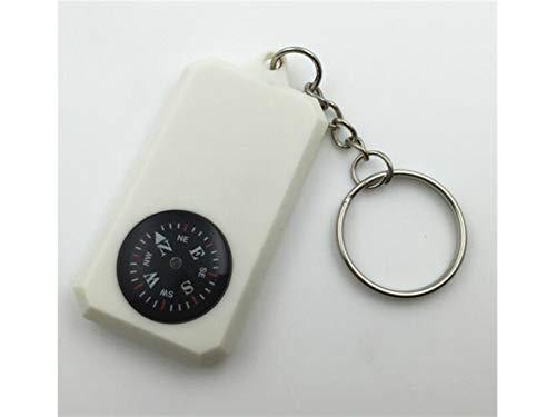 Plsonk Explorer Compass, Multifonction de Boussole portative de Bijoux explorent des Outils de Navigation extérieurs de Boussole (Blanc) Outil de Navigation