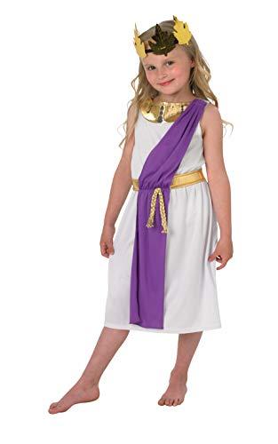 Rubie's 640204 Offizielles Römisches Mädchen-Kostüm, Buchwoche, Kindergröße 9-10 Jahre, mehrfarbig, XL