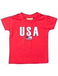 Shirtstown Bebé Niños Camiseta Fútbol Camiseta de País USA