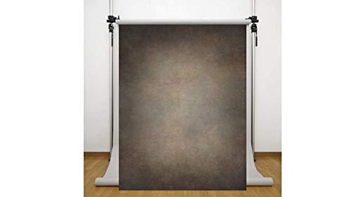 WaW Fotohintergrund Dunkelbraun Handgemalte Effekte Foto Stoffhintergrund Vintage Portrait Produkt Konzept Fotoshooting Requisiten 2 x 2,9 m