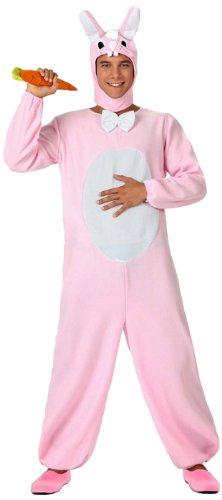 Atosa 15683 costume da coniglio, rosa, adulto, taglia 2