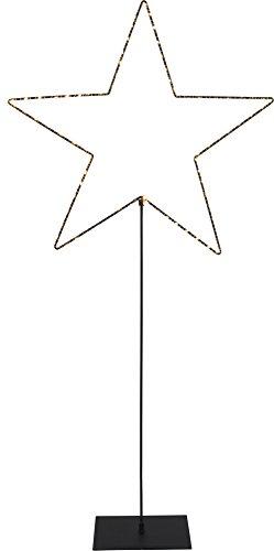 Star LED-Draht-Standstern Mira, schwarz, 80 warmwhite, Metall, 15 x 50 x 100 cm