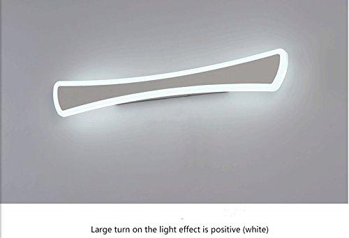 HEYUN& Creative-Acryl-LED Spiegelleuchten Hotelzimmer vor dem Kabinett Licht Badezimmer Badezimmerspiegel Licht Schlafzimmerspiegel ( Color : Weißes Licht-52cm/20W )