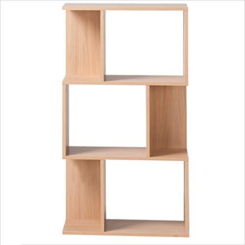 GXYGWJ Kreatives Bücherschrank Wohnzimmer Geometrisches Regal Holzregal, Holzfarbe 59 * 24 * 106.5cm Bücherregal (2 Regal Bücherregal Birke)