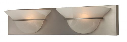 Alabaster Finish (Craftmade 17124BN2 Vanity Light with Alabaster Swirl Glass Shades, Nickel Finish by Craftmade)