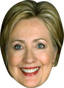 Hillary Clinton Celebrity Karton (Für Hillary Erwachsene Maske)