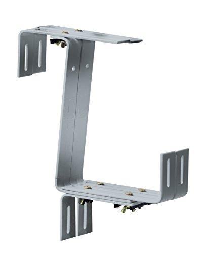 Windhager Blumenkasten-Halter für Brüstungen und Balkongeländer, Stabil, Tragkraft 45 kg, 22 x 17 cm, Verzinkt, 05839