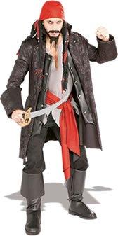 Generique - Deluxe Piraten-Kostüm für Herren braun-rot Einheitsgröße (Deluxe Piraten-kostüm)