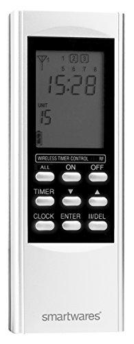 Smartwares SmartHome Funk-Timer Fernbedienung mit Zeitschaltuhr 15-Kanal, SH5-TDR-T
