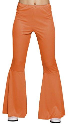 Boland Pantaloni Flare Disco Party a Zampa (Taglia M Stretch), Arancione Adulti, 01959