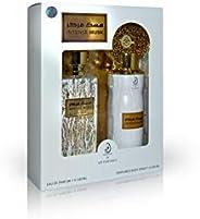 Arabiyat Intense Musk Perfume Gift Set For Unisex, Eau De Parfum, 100 ml + Deodorant, 200 ml