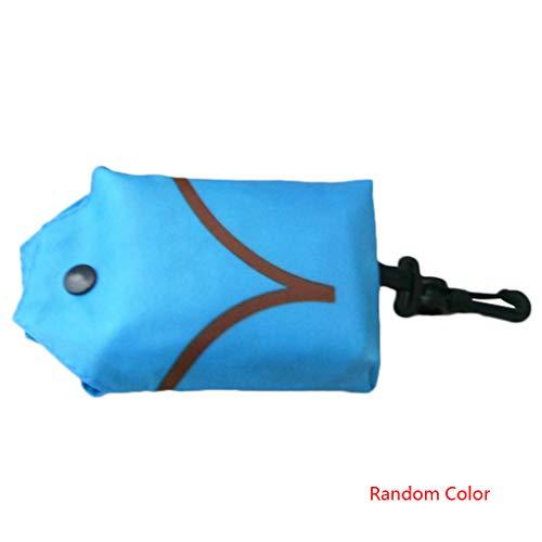 Laileya Resuable Polyester Handliche Einkaufstasche Recycle-Speicher-Organisator Faltbare Eco Friendly Tote Beutel zufällige Farbe -