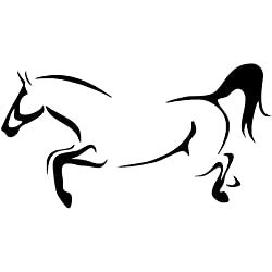 Sticker Mural Décoration De La Maison Salon Dessin Au Trait Animal Contour Cheval Bricolage S Pour   Galopant Cheval Vinyle Amovible Mur Art Stickers   Décor   31 * 59 Cm