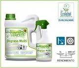 Naturelle Degrass Multi. Allgemeine 4lt Entfetter Kanister Oberflächen Bio Entfetter für die Reinigung in der Küche von Fliesen und andere Oberflächen wie Arbeitsplatte und Haushaltsgeräte., 2