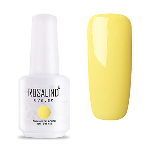 Rosalind smalto semipermanente giallo brillante colori smalti semipermanenti per unghie ricostruzione completo decorazioni kit meanail soak off uv gel