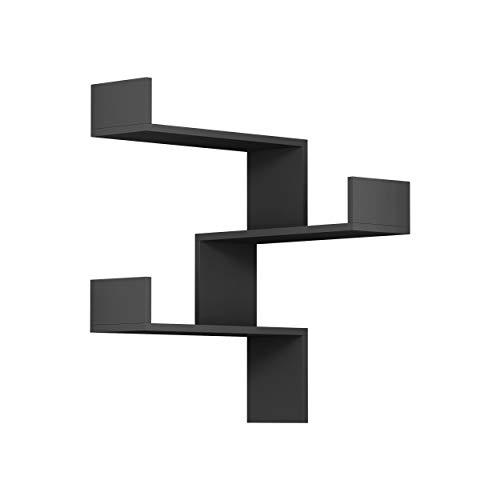 Hocuspicus Estantería esquinera de 3 Niveles para Sala de Estar, Oficina y más. Unidad de Esquina fácil de Montar. 60 x 90 x 22 cm