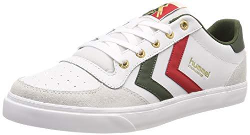 hummel Unisex-Erwachsene Stadil Low Sneaker Weiß (White/Green 9208) 45 EU