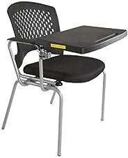 Mahmayi Fabric/Metal Mars 8712nsf Student Chair, TA8712NSFBL, Black, H 85 x W 46 x D 46 cm