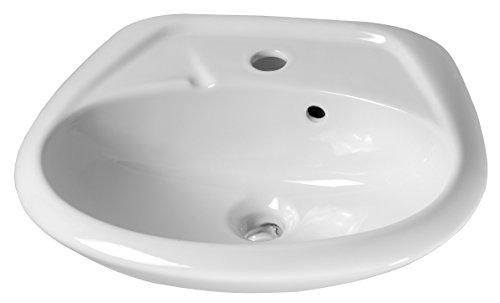 Cornat Handwaschbecken ALPHA 450 mm, weiß / Waschtisch / Hängewaschbecken / Waschplatz / Waschschale / Badezimmer / HWBABD100