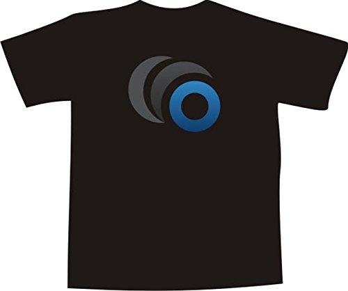 T-Shirt F587 Schönes T-Shirt mit farbigem Brustaufdruck - Symbol Monat Weiß