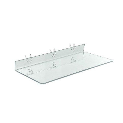 4Pack klar Acryl Ablage für Stecktafel oder Slatwall (4Stück) (Acryl Klar Pegboard)